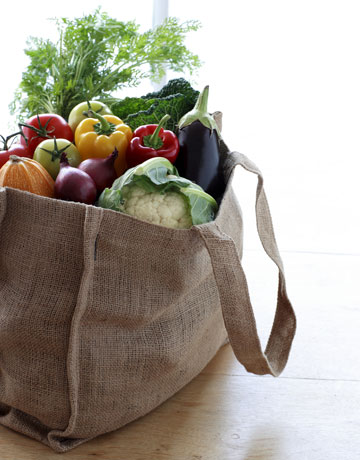 re-usable grocery bag safety